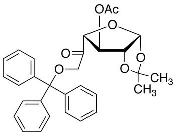3-Acetyl-1,2-O-isopropylidene-6-O-trityl-β-L-arabino-hexofuranos-5-ulose, cas 109680-98-0