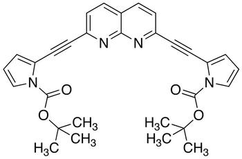 2,7-Bis-(1-tert-butoxycarbonylpyrrol-2-yl)ethynyl-1,8-naphthridine