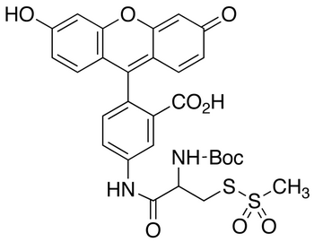 (L)-2-[(t-Boc)amino]-2-[(5-Fluoresceinyl)aminocarbonyl]ethyl Methanethiosulfonate