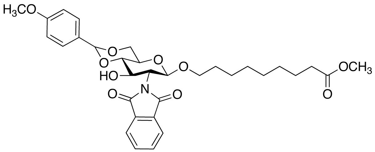 8-Methoxycarbonyloctyl-2-deoxy-2-phthalimido-4,6-O-(methoxybenzylidene)-β-D-glucopyranoside, cas 359436-88-7