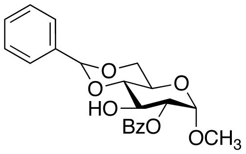 Methyl 2-O-Benzoyl-4,6-di-O-benzylidene-α-D-glucopyranoside, cas 28642-64-0