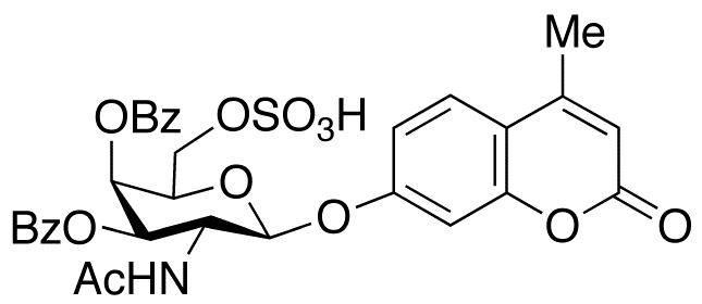 4-Methylumbelliferyl 2-Acetamido-2-deoxy-3,4-di-O-benzoyl-β-D-Galactopyranoside 6-Sulfate, cas 154639-33-5