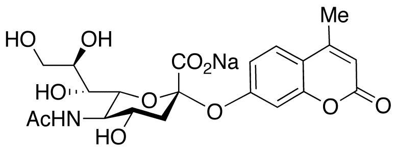 2'-(4-Methylumbelliferyl)-α-D-N-acetylneuraminic Acid, Sodium Salt, cas 76204-02-9