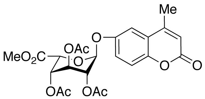 4-Methylumbelliferyl 2,3,4-Tri-O-acetyl-α-L-idopyranosiduronic Acid, Methyl Ester, cas 128095-50-1