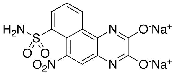 6-Nitro-7-sulfamoylbenzo[f]quinoxaline-2,3-dione, Disodium Salt