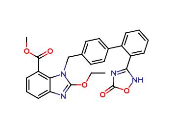 1H-BenziMidazole-7-carboxylic acid, 1-[[2-(2,5-dihydro-5-oxo-1,2,4-oxadiazol-3-yl)[1,1-biphenyl]-4-yl]Methyl] -2-ethoxy-, Methyl ester