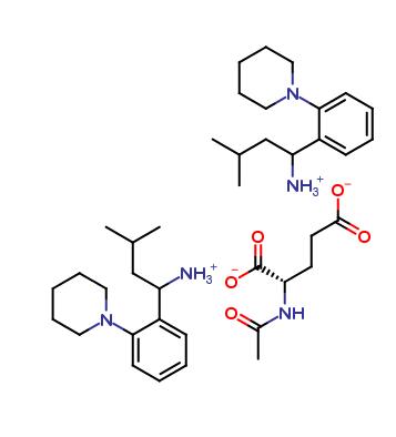 3-Methyl-1-(2-piperidinophenyl)butylamine N-acetylglutamate salt