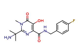 2-(1-amino-1-methylethyl)-N-(4-flourobenzyl)-5-hydroxy-1-methyl-6-oxo-1, 6-dihydro pyrimidine-4-carboxamide