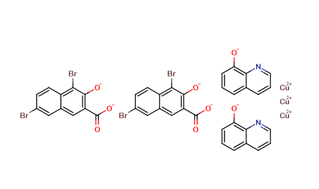 8-quinolinolium 4,7-dibromo-3-hydroxy-2-naphthoate, Copper (ii) Salt