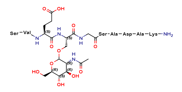 SVES(β-O-GlcNAc)GSADAK-NH2