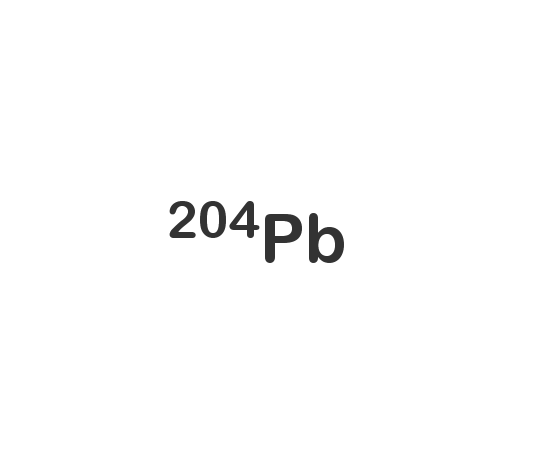Lead-204 isotope