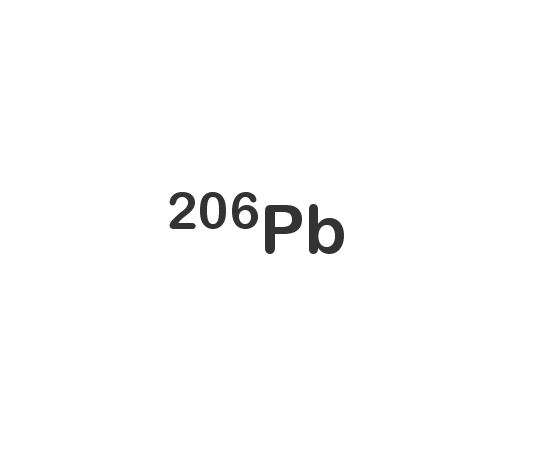 Lead-206 isotope
