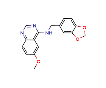 N-(1,3-benzodioxol-5-ylmethyl)-6-methoxyquinazolin-4-amine