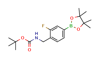 4-(Boc-aminomethyl)-3-fluorobenzeneboronic acid pinacol ester
