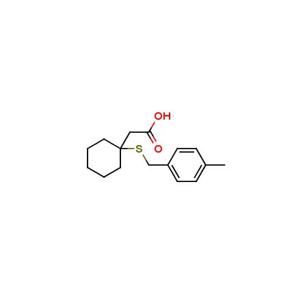 b-(4-Methyl-benzylsulfanyl)-b,b-cyclopentamethylene-propionic acid, S-(4-Methylbenzyl)-b-mercapto-b,b-cyclopentamethylene-propionic acid