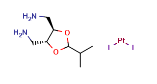 (4R,5R)-4,5-bis(aminomethyl)-2-isopropyl-1,3-dioxolane)diiodoplatinum(II)