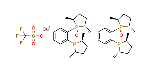 Bis[(2S,5S)-1-{2-[(2S,5S)-2,5-Dimethylphos-pholan-1-yl]phenyl}-2,5-dimethylphospholane 1-oxide] Copper(I) Triflate
