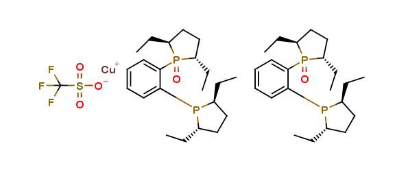 Bis[(2S,5S)-1-{2-[(2S,5S)-2,5-Diethylphos-pholan-1-yl]phenyl}-2,5-diethylphospholane 1-oxide] Copper(I) Triflate