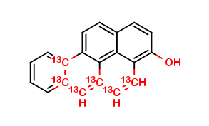 3-Hydroxy Benzo (a) Pyrene 13C6, cas 13345-21-6 (Unlabeled)
