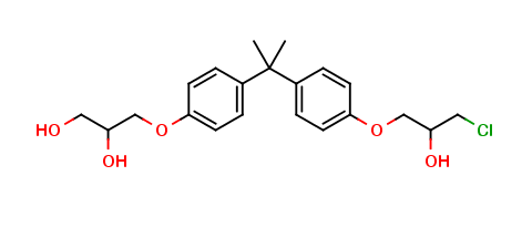 Bisphenol A (3-chloro-2-hydroxypropyl) (2,3-dihydroxypropyl) ether