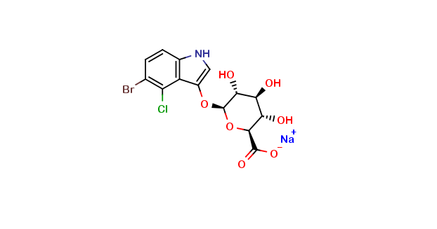 5-Bromo-4-chloro-3-indolyl-β-D-glucuronide sodium salt