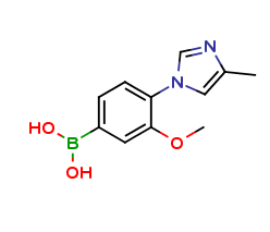 3-methoxy-4-(4-methyl-1H-imidazol-1-yl)phenylboronic acid