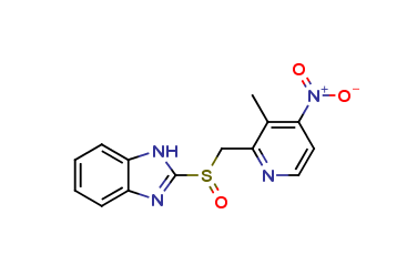 2-[[(3-Methyl-4-nitro-2-pyridinyl)methyl]sulfinyl]-1H-benzimidazole