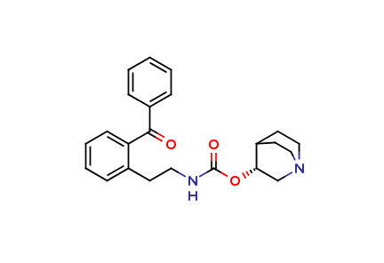 (+)-(R)-Quinuclidin-3-yl [2-(2-benzoylphenyl)ethyl]carbamate