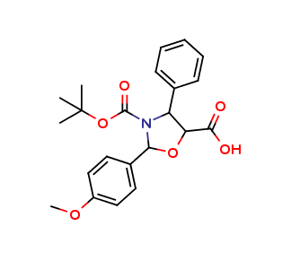 (4S,5R)-2-(4-methoxy-phenyl)-3-N-BOC-4-phenyl-3, 5-oxazolidine carboxylic acid