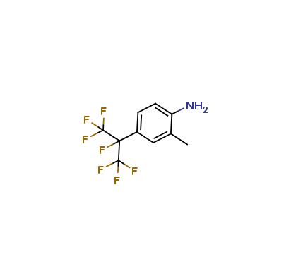 2-methyl-4-(heptafluoropropan-2-yl)-aniline