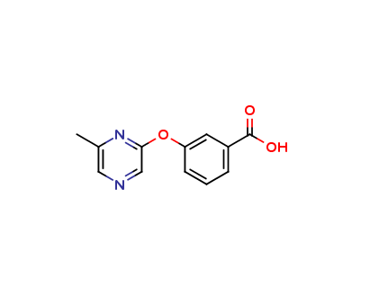 3-[(6-methylpyrazin-2-yl)oxy]benzoic acid