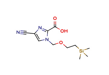 4-cyano-1-{[2-(trimethylsilyl)ethoxy]methyl}-1H-imidazole-2-carboxylic acid