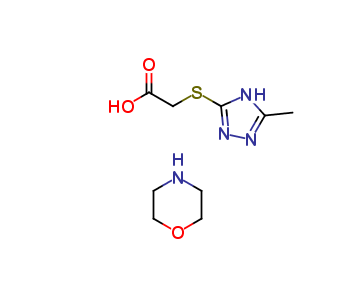 morpholine 2-((5-methyl-4H-1,2,4-triazol-3-yl)thio)acetate, cas 357172-63-5