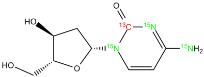 [13C,15N3]-2'-Deoxycytidine, cas 951-77-9 (Unlabeled)