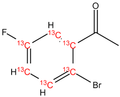 [13C6]-2'-Bromo-5'-fluoroacetophenone, cas 1006-33-3 (Unlabeled)