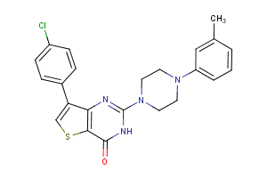 7-(4-chlorophenyl)-2-[4-(3-methylphenyl)piperazin-1-yl]thieno[3,2-d]pyrimidin-4(3H)-one