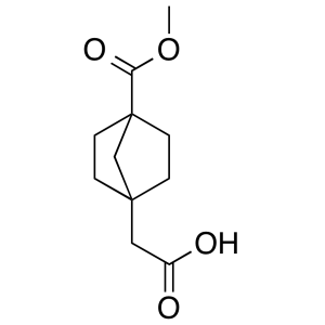 2-(4-(methoxycarbonyl)bicyclo[2.2.1]heptan-1-yl)acetic acid