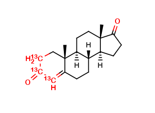 Androst-4-ene-3,17-dione-[13C3]