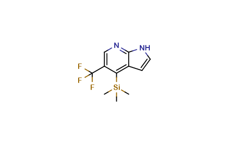 5-(Trifluoromethyl)-4-(trimethylsilyl)-1H-pyrrolo[2,3-b]pyridine