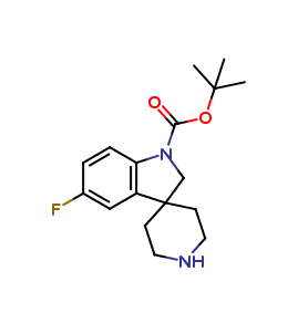 tert-Butyl 5-fluorospiro[indoline-3,4-piperidine]-1-carboxylate