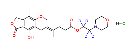 Mycophenolate Mofetil Hydrochloride D4