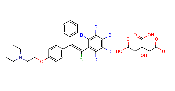 Zuclomiphene Ring D5 Citrate