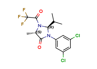 (2R,5S)-2-Isopropyl-3-(3,5-Dichloro-phenyl)-5-methyl-1-(2,2,2-trifluoroacetyl)-imidazolidin-4-one