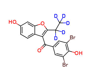 6-Hydroxy Benzbromarone D5