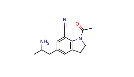 1-Acetyl-5-(2-aminopropyl)-2,3-dihydro1H-indole-7-carbonitrile