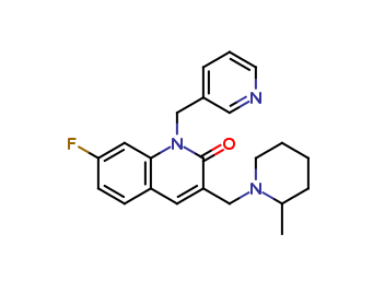 7-fluoro-3-((2-methylpiperidin-1-yl)methyl)-1-(pyridin-3-ylmethyl)quinolin-2(1H)-one