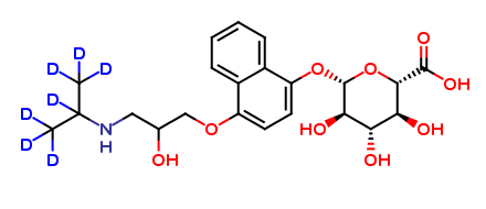 4-OH Propranolol-D7-O-β-D-glucuronide