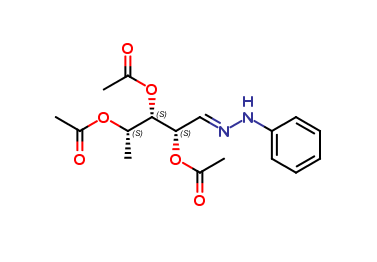 5-Deoxy-2,3,4-O-triacetyl-L-arabinose phenylhydrazone