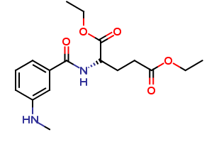 (S)-diethyl 2-(3-(methylamino)benzamido)pentanedioate
