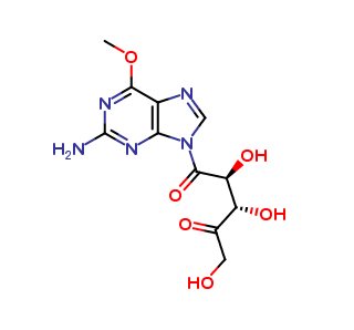 (2S,3S)-1-(2-amino-6-methoxy-9H-purin-9-yl)-2,3,5-trihydroxypentane-1,4-dione